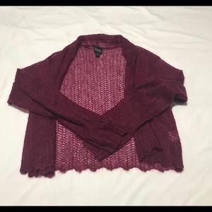 Eileen fisher cardigan wool blend medium